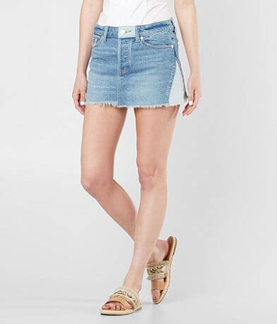 Free People Patched Denim Skirt