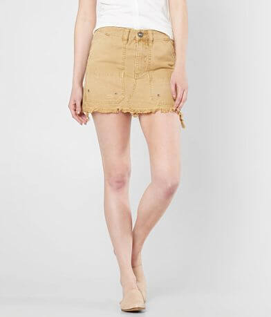 Free People Canvas Relaxed Denim Mini Skirt