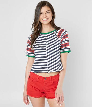 Free People Prepster Cropped T-Shirt