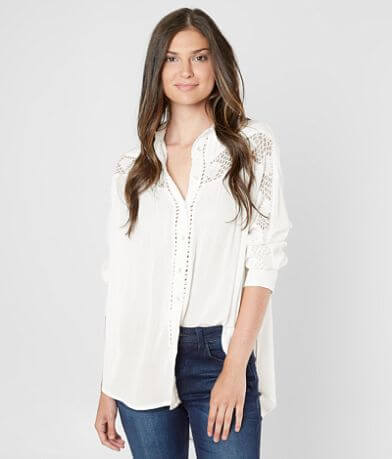 Free People Katie Bird Blouse