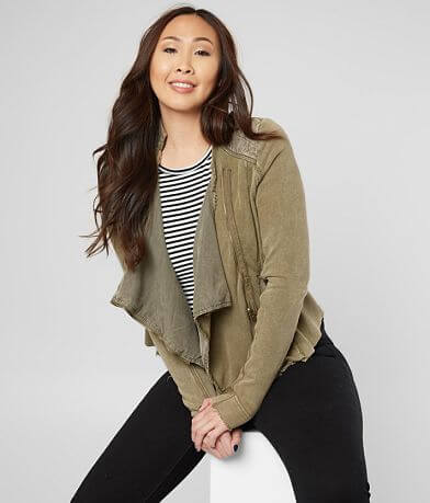 Free People Shrunken Moto Jacket