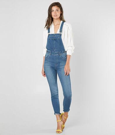 Free People Skinny Denim Overalls