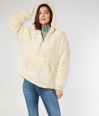 Free People Off The Record Faux Fur Hoodie