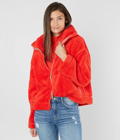 Free People Dazed Fuzzy Jacket