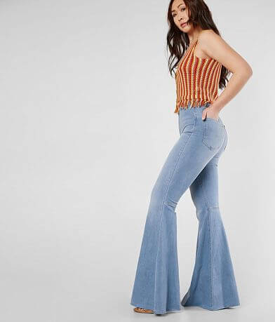 Free People Float On Flare Stretch Jean