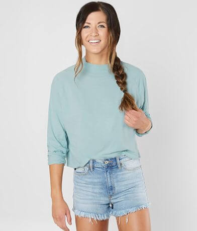 Free People Jackson Mock Neck Top