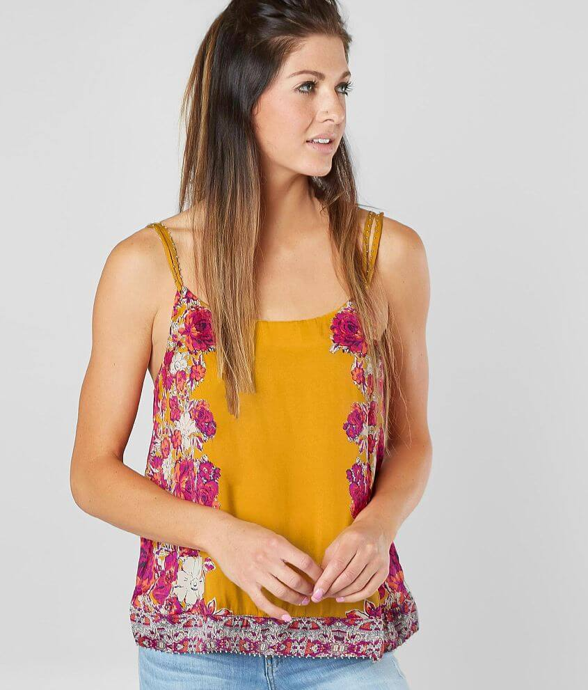 Free People Move Lightly Satin Tank Top front view