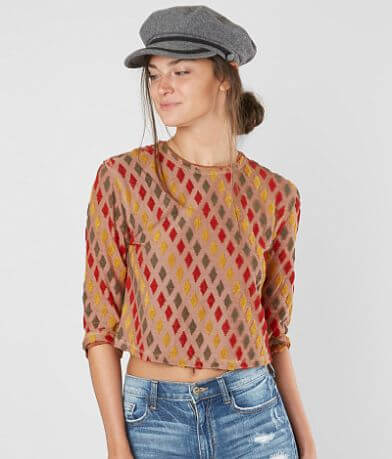 Free People Magic Carpet Cropped Top