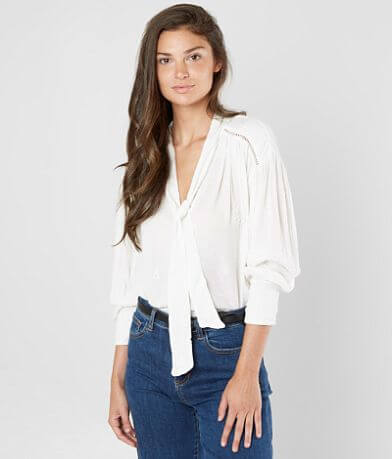 Free People Wishful Moments Embroidered Blouse