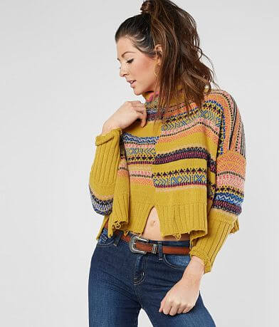 Free People All The Pattern Striped Sweater
