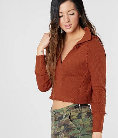 Free People Darcy Cropped Sweater
