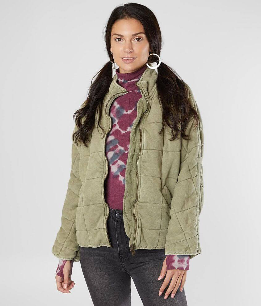 Free People Dolman Quilted Jacket front view