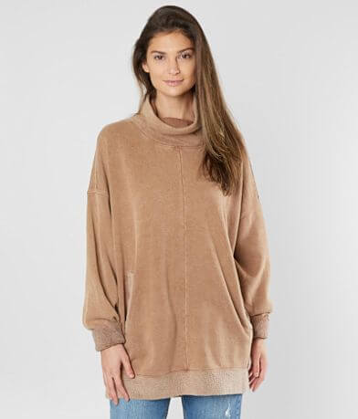 Free People Too Easy Tunic Sweatshirt