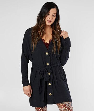 Free People Sleepy Ribbed Robe Cardigan
