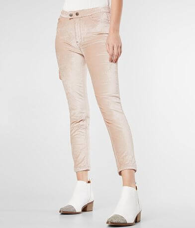 Free People Sweet Jane Velvet Skinny Stretch Pant