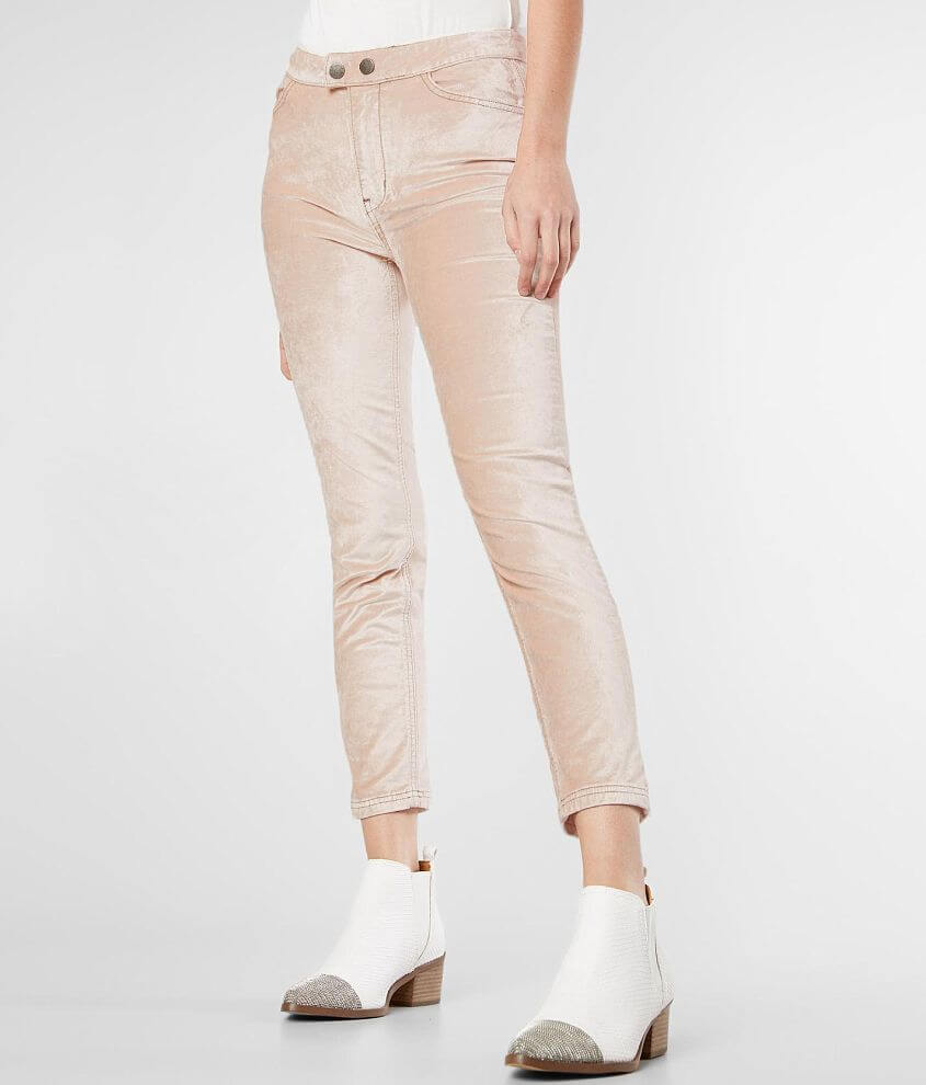 Free People Sweet Jane Velvet Skinny Stretch Pant Women S Pants