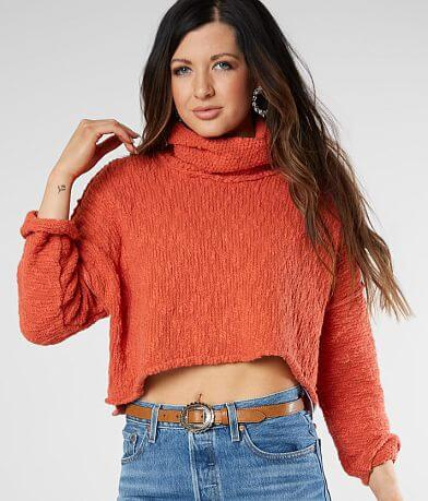 Free People Big Easy Cropped Pullover Sweater