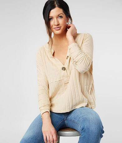 Free People In The Mix Henley Top
