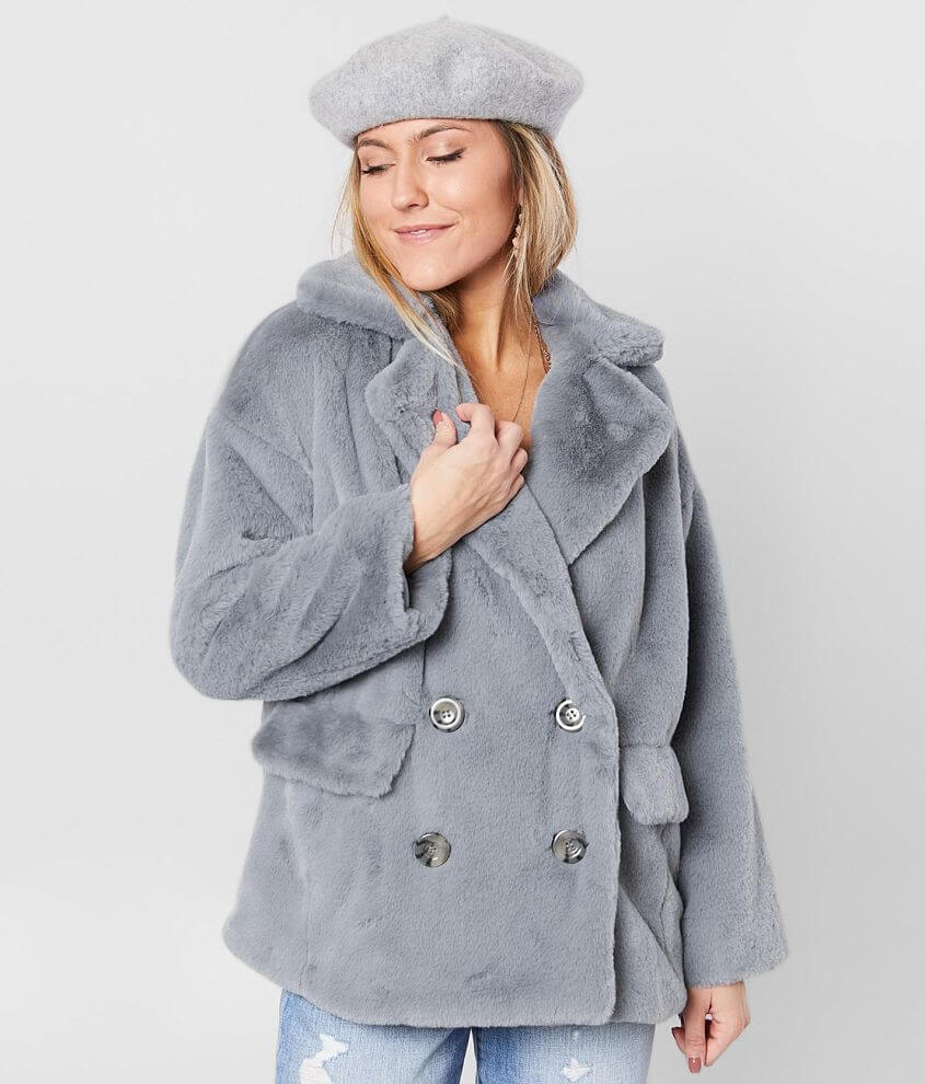 Shop more: Super Soft Cozy oversized button front coat Silky lining Front flap pockets Bust measures 44\\\