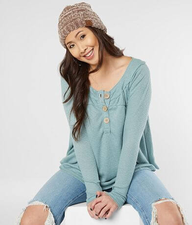 Free People Must Have Thermal Henley Top