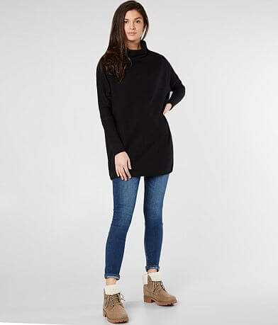 Free People Kitty Thermal Tunic Top