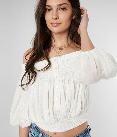 Free People Dancing Til Dawn Cropped Top