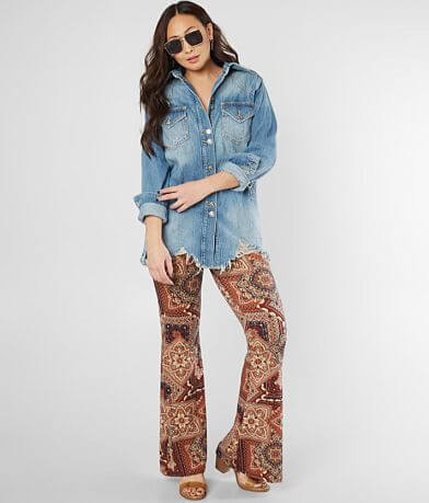 Free People Moonchild Denim Shirt Jacket