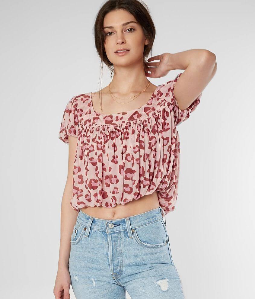 32b2f2b994a Free People Meg's Cropped Blouse - Women's Shirts/Blouses in Blush ...
