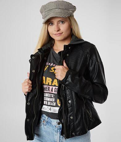Free People New Dawn Vegan Hooded Jacket