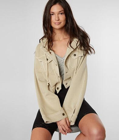 Free People Dreamers Cropped Knit Jacket