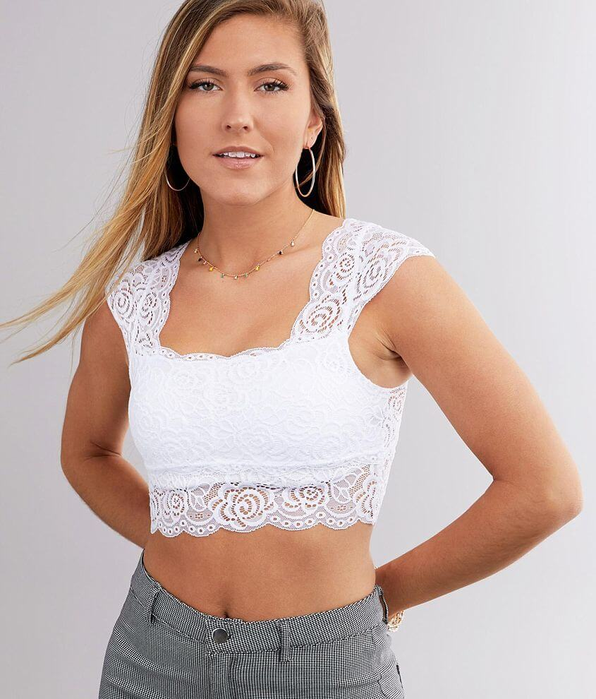 Free People Chase Me Lace Brami front view