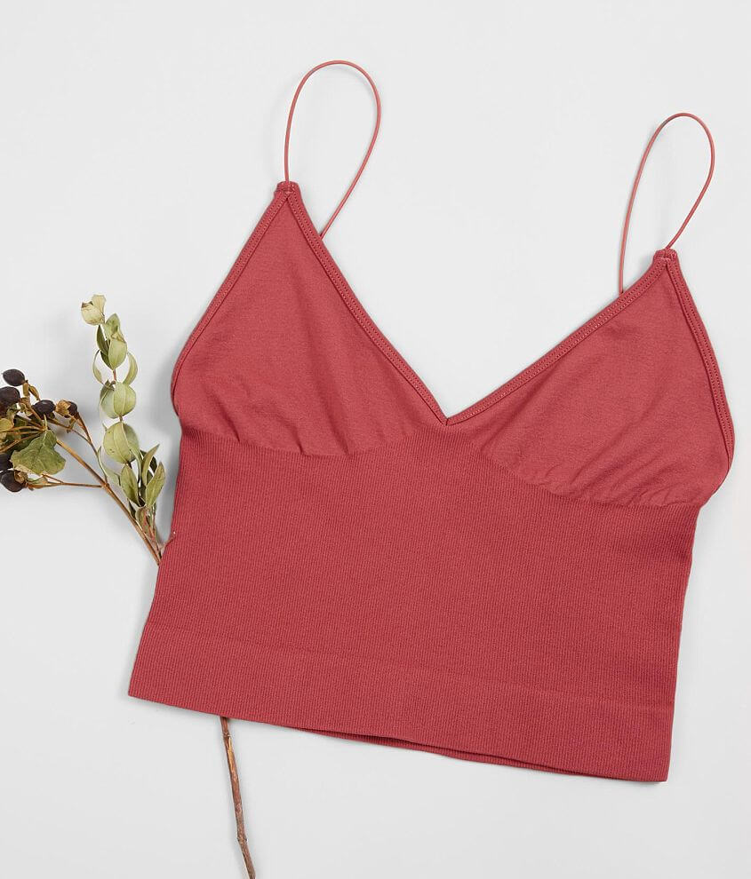 Free People Ribbed V-Neck Brami front view