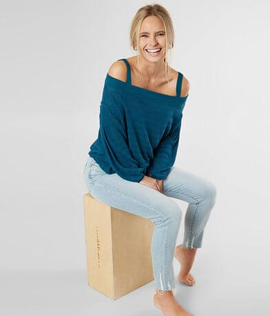 Free People Sistine Hacci Cold Shoulder Top