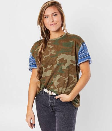 Free People Clarity Camo T-Shirt