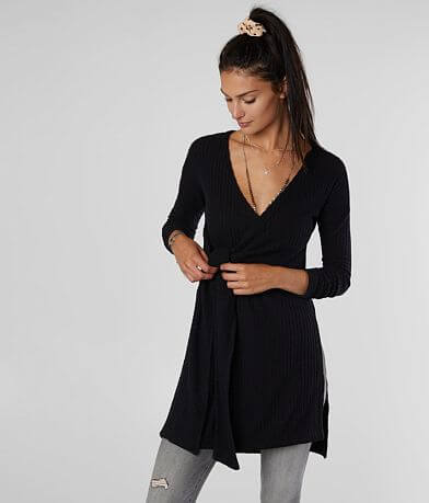 Free People Fall For Your Wrap Tunic Top