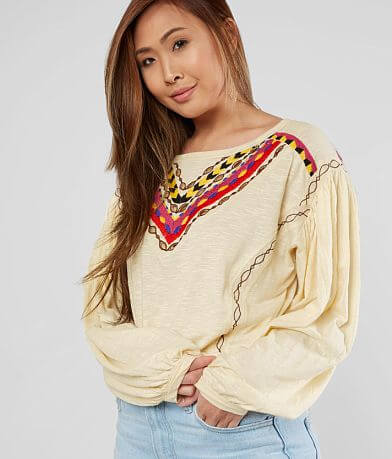 Free People Hand Me Down Cropped Top