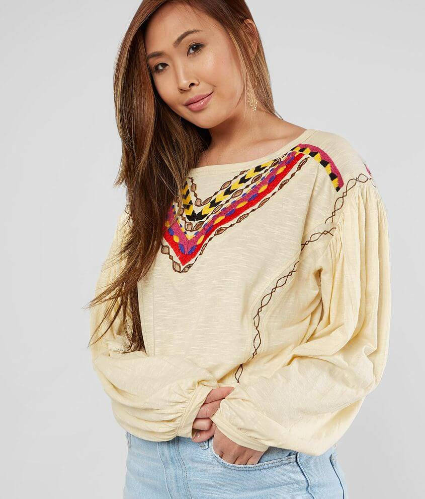 Free People Hand Me Down Cropped Top front view