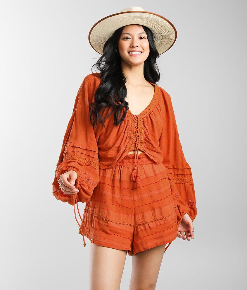 Free People Paloma Top & Short Set front view