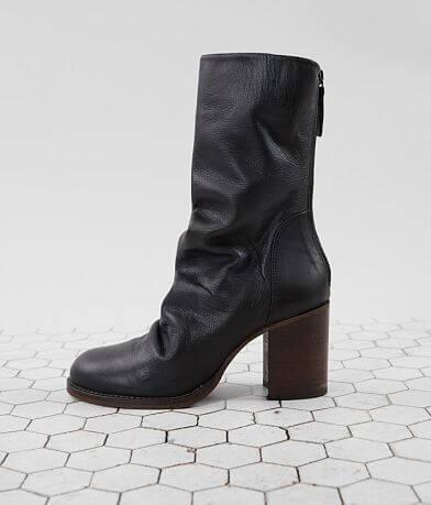 Free People Elle Block Heeled Leather Midi Boot