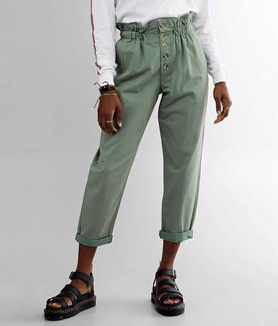 BKE High Rise Cuffed Paperbag Pant