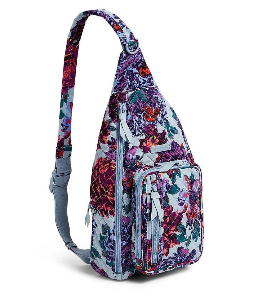 Vera Bradley Neon Blossom Sling Backpack front view