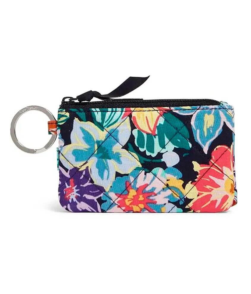Vera Bradley Happy Blooms RFID Deluxe ID Wallet front view