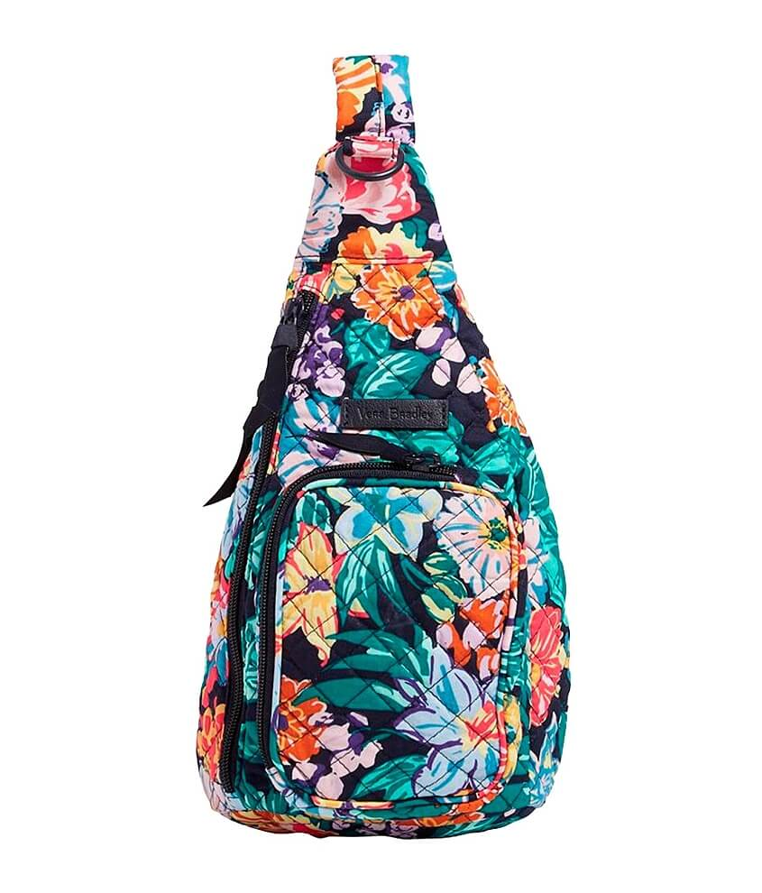 Vera Bradley Happy Blooms Mini Sling Backpack front view
