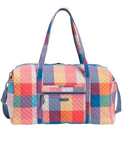 Vera Bradley Tropics Plaid Travel Duffle Bag