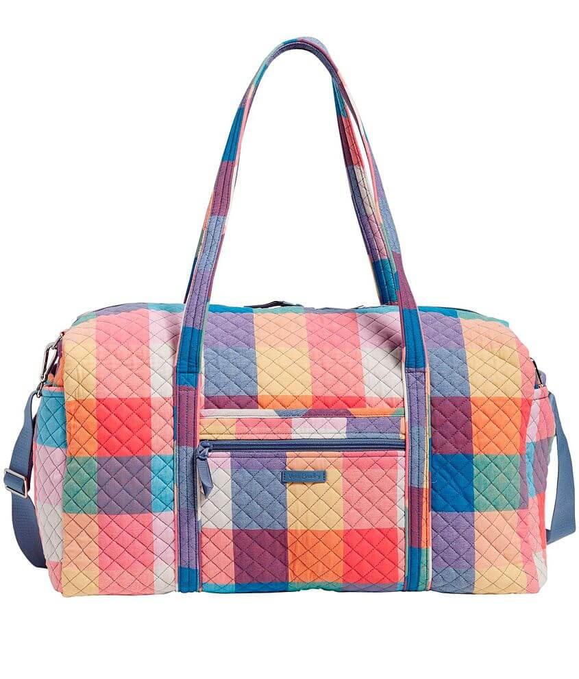 Vera Bradley Tropics Plaid Travel Duffle Bag front view