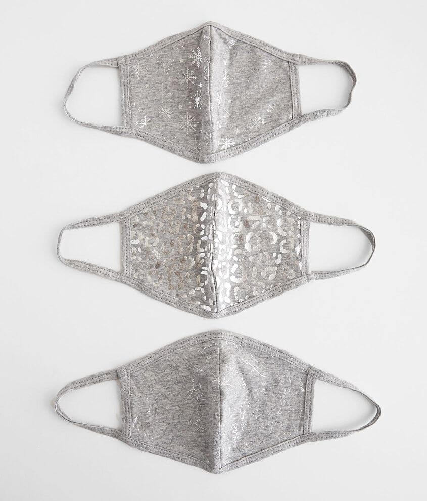 Zunie Foiled 3 Pack Face Masks front view