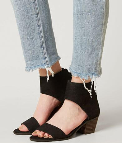 Lucky Brand Barbina Leather Heeled Sandal