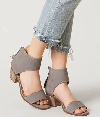 Lucky Brand Barbina Leather Heeled Sandal