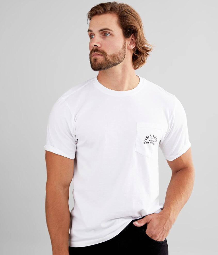 Vissla Stacked Upcycle T-Shirt front view