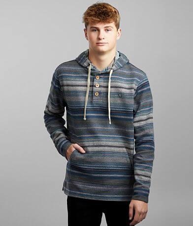 Vissla Pouches Popover Hooded Henley Sweatshirt